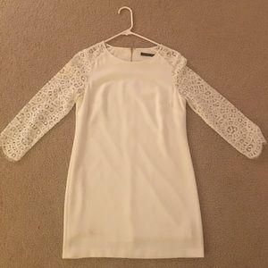 Ivanka Trump short white semi-formal dress